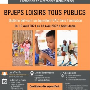 AFFICHE BPJEPS ST ANDRE 2021